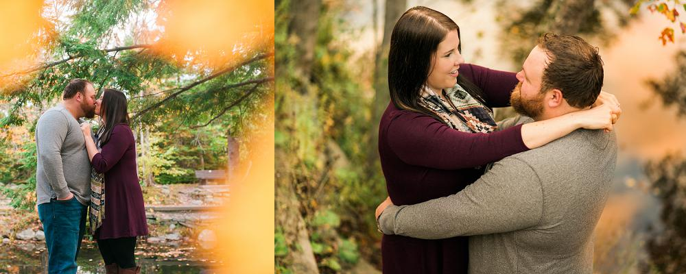 couple embracing at shubie park