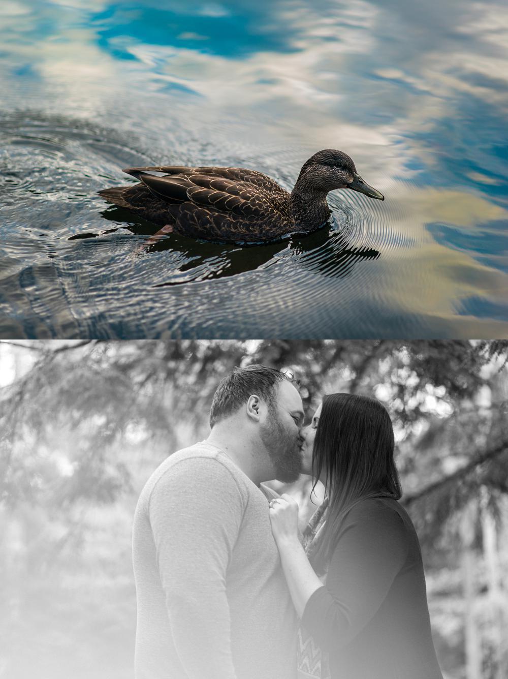 black and white photo of a couple kissing in dartmouth nova scotia