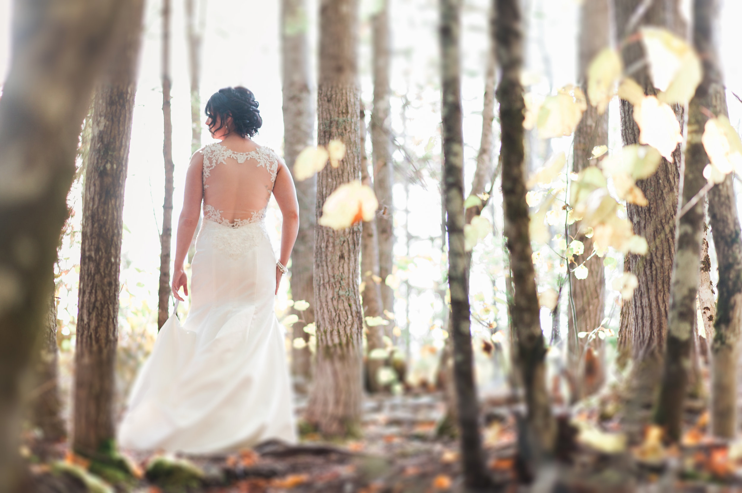 whimsical bride shot