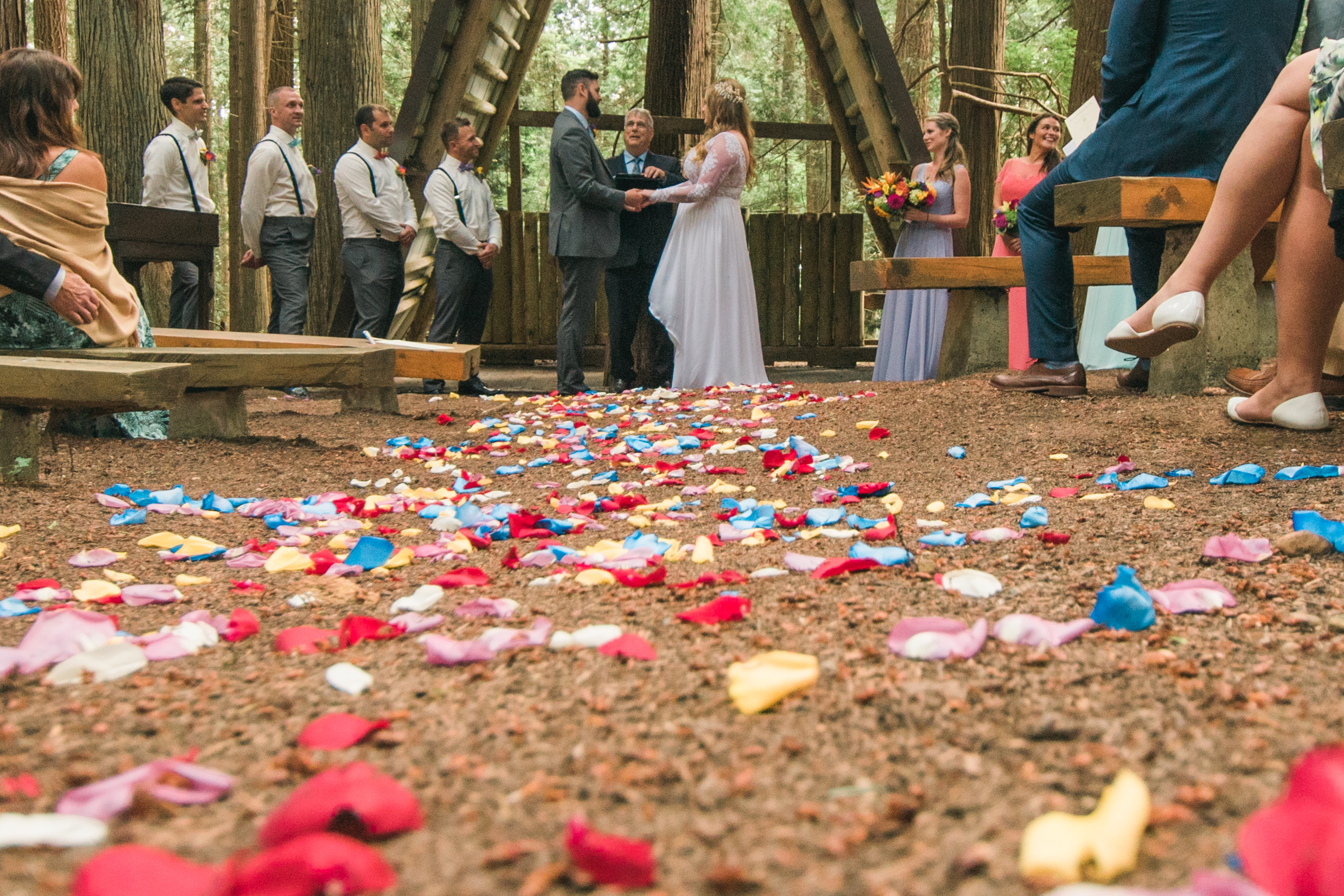 We're in love with this forest wedding.