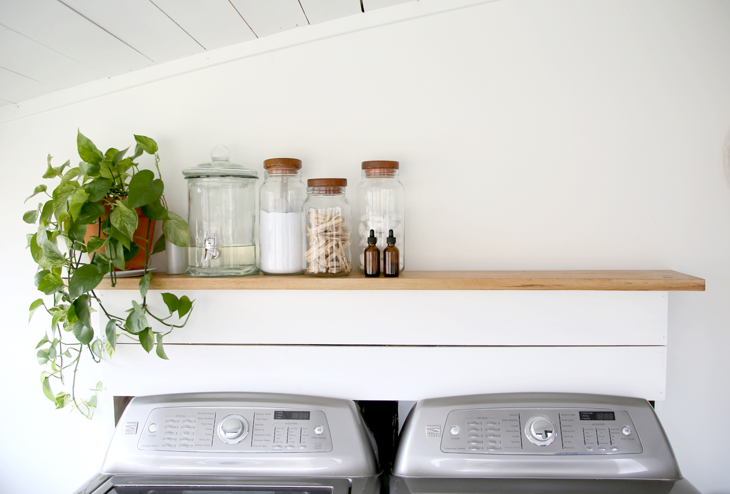 Laundry Self 2.jpgFarmhouse Style Laundry and Mudroom Makeover