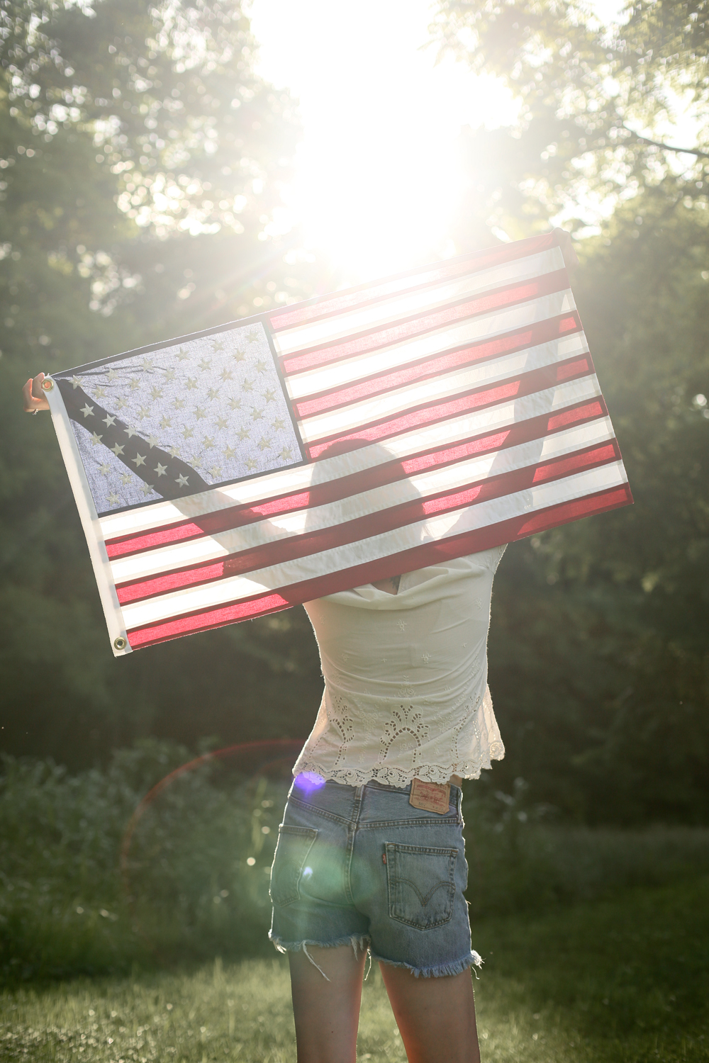 Home Made American Flag by Jessica Quirk