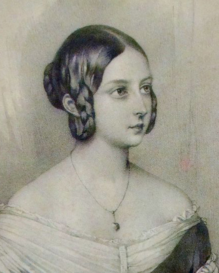 Queen Victoria's Looped Braids of the 1840s.