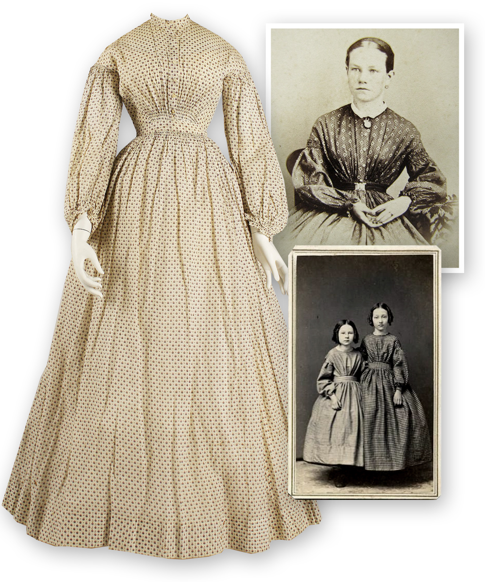 dress, late 1830s, metropolitan museum of art, daguerrotypes of women and girls in mid 19th century dresses