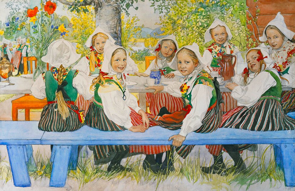 Kersti's Birthday Party by Carl Larsson 1909