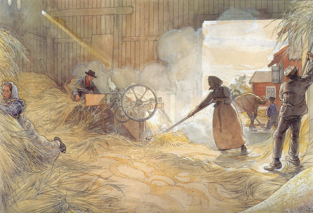 Threshing, Carl Larsson 1906