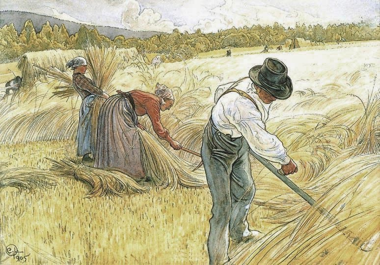 Harvesting the Rye, Carl Larsson 1905