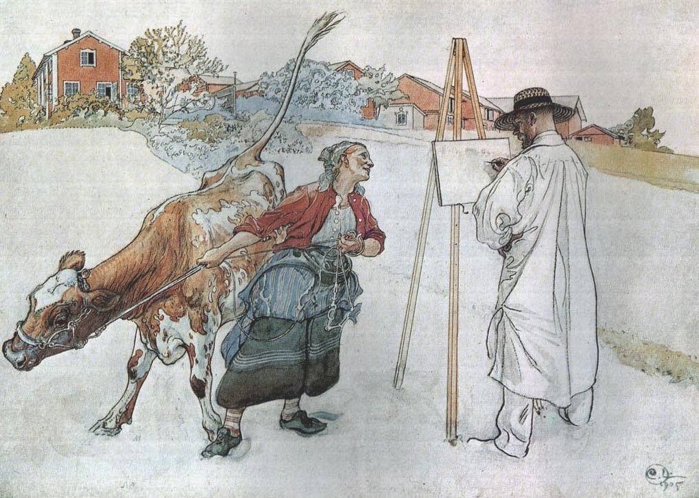 On the Farm, Carl Larsson 1905