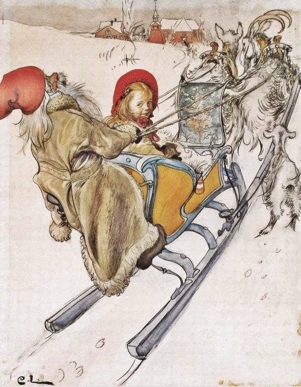 Kersti's Sleigh Ride, Carl Larsson, 1901