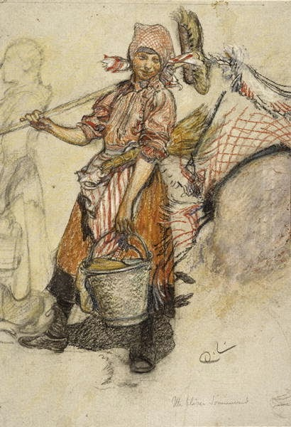 Washer Woman, Carl Larsson