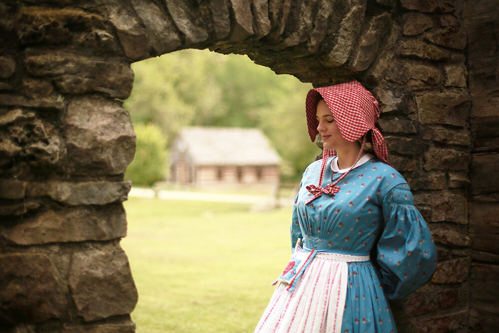 Kirsten Larson Costume at Spring Mill State Park 19th Century Costume