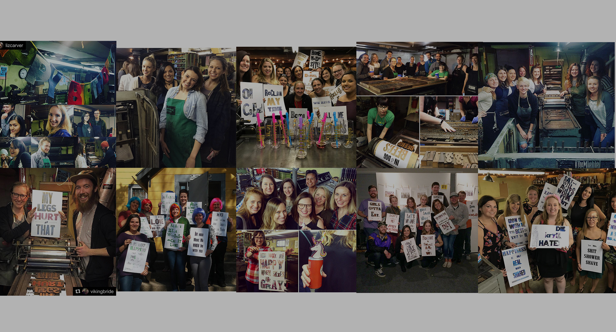 LET'S THROW A PRINT PARTY - reserve the studio space for you, your friends & your next big party