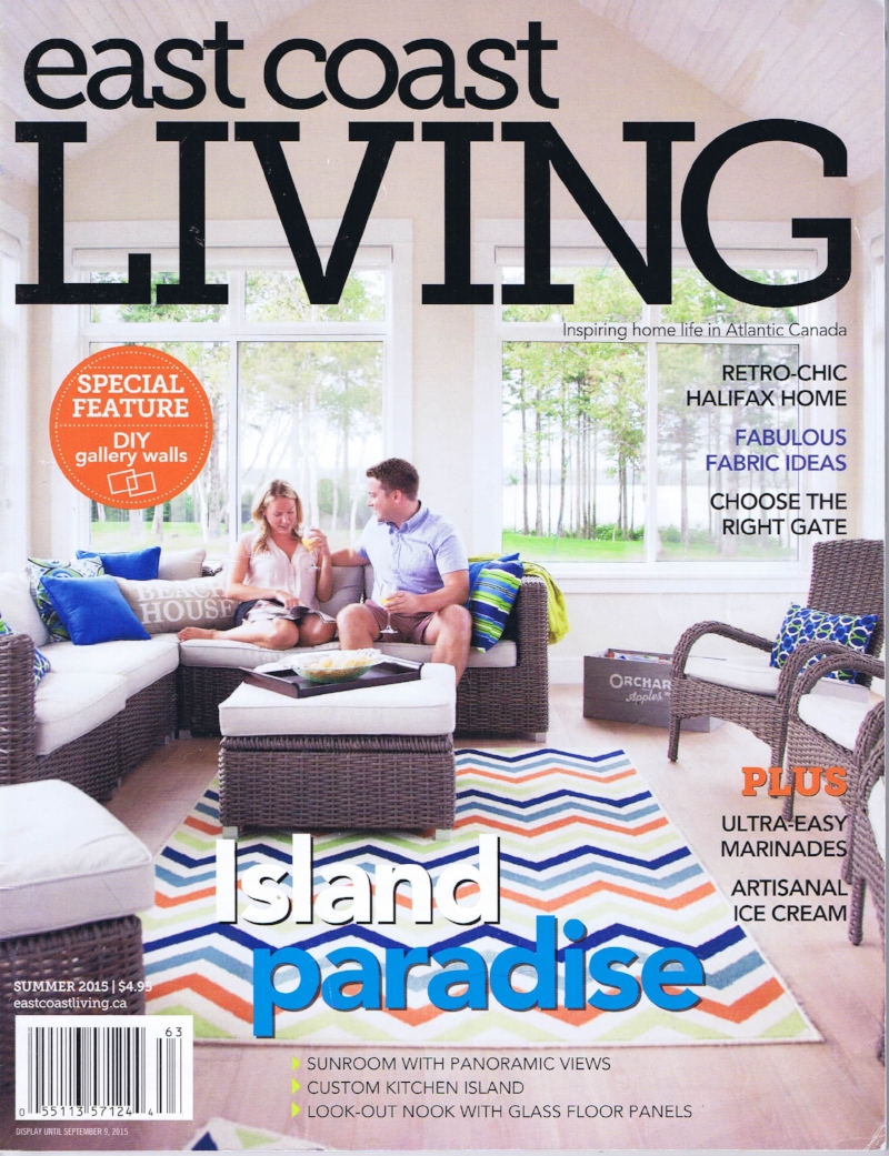 See our summer home featured on the cover of East Coast Living's 2015 Summer Issue.