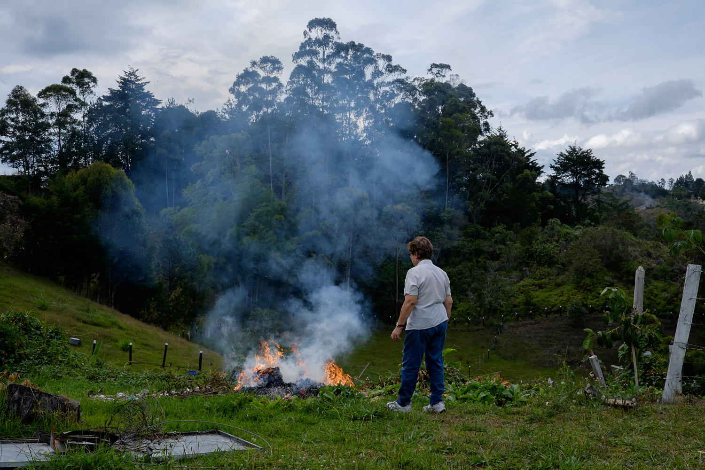 Olga Lucia Alvarez Benjumea in her garden in Rionegro