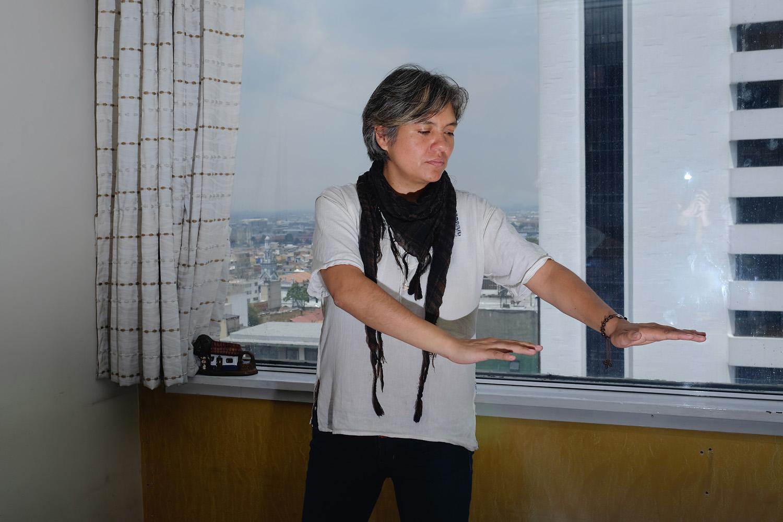 Judith Bautista in her office