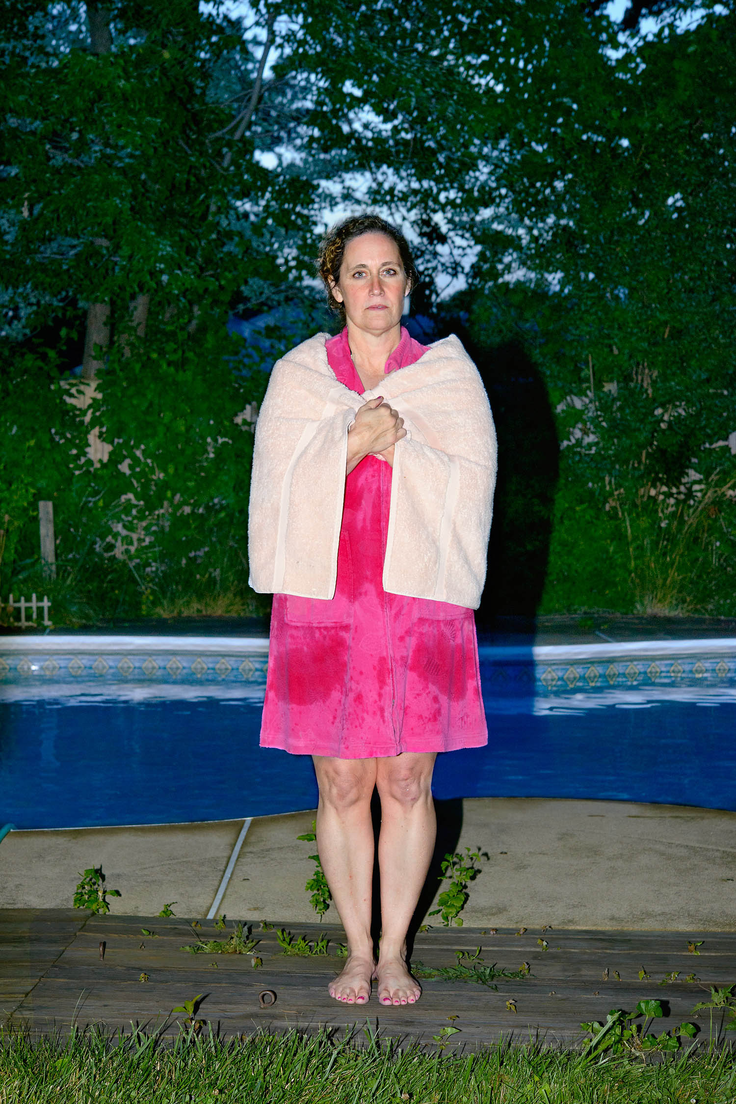 Donna LeMaster Rougeux, from Kentucky, by the pool