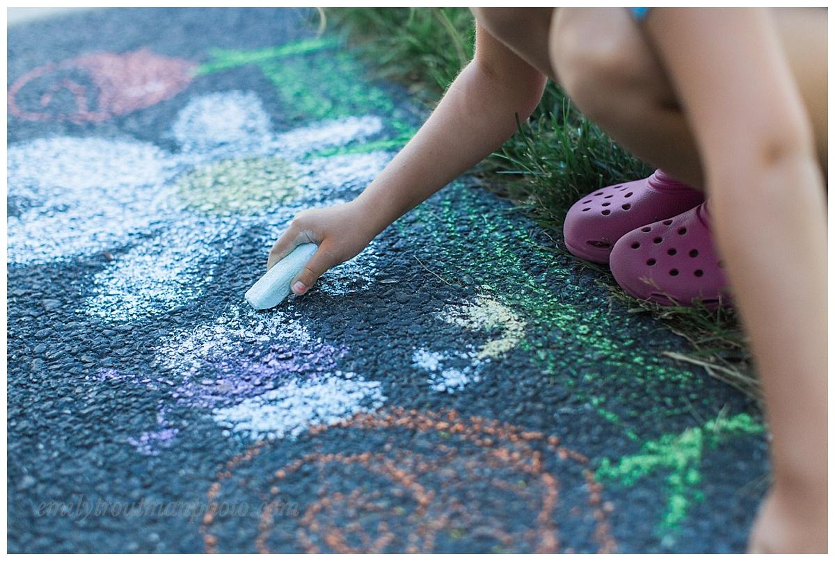 Sidewalk chalk is always a favorite