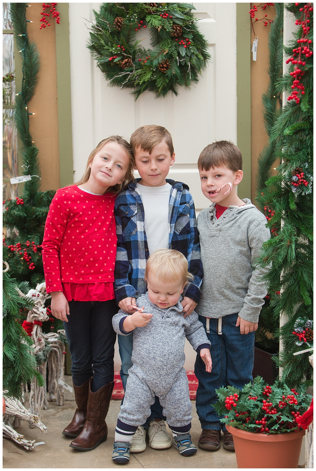 This was maybe the best we got during that visit! Four kids is tough in many ways...