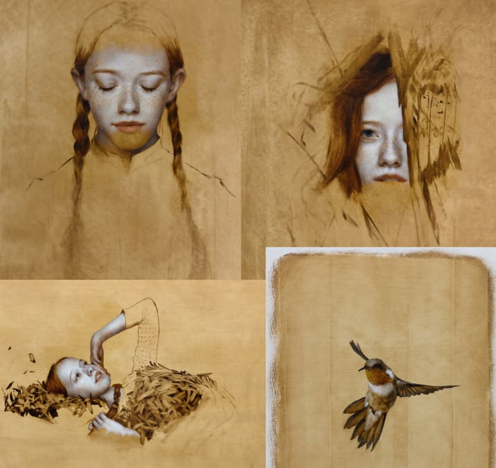 The sequence is based on eight custom-made paintings by artist  Brad Kunkle , and created by Imaginary Forces, the design-based production studio.