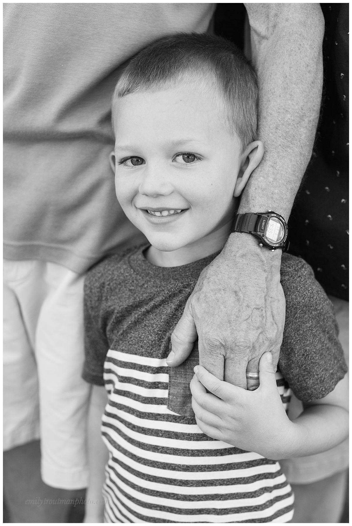 Holding his Grandpa's hand on his fifth birthday!