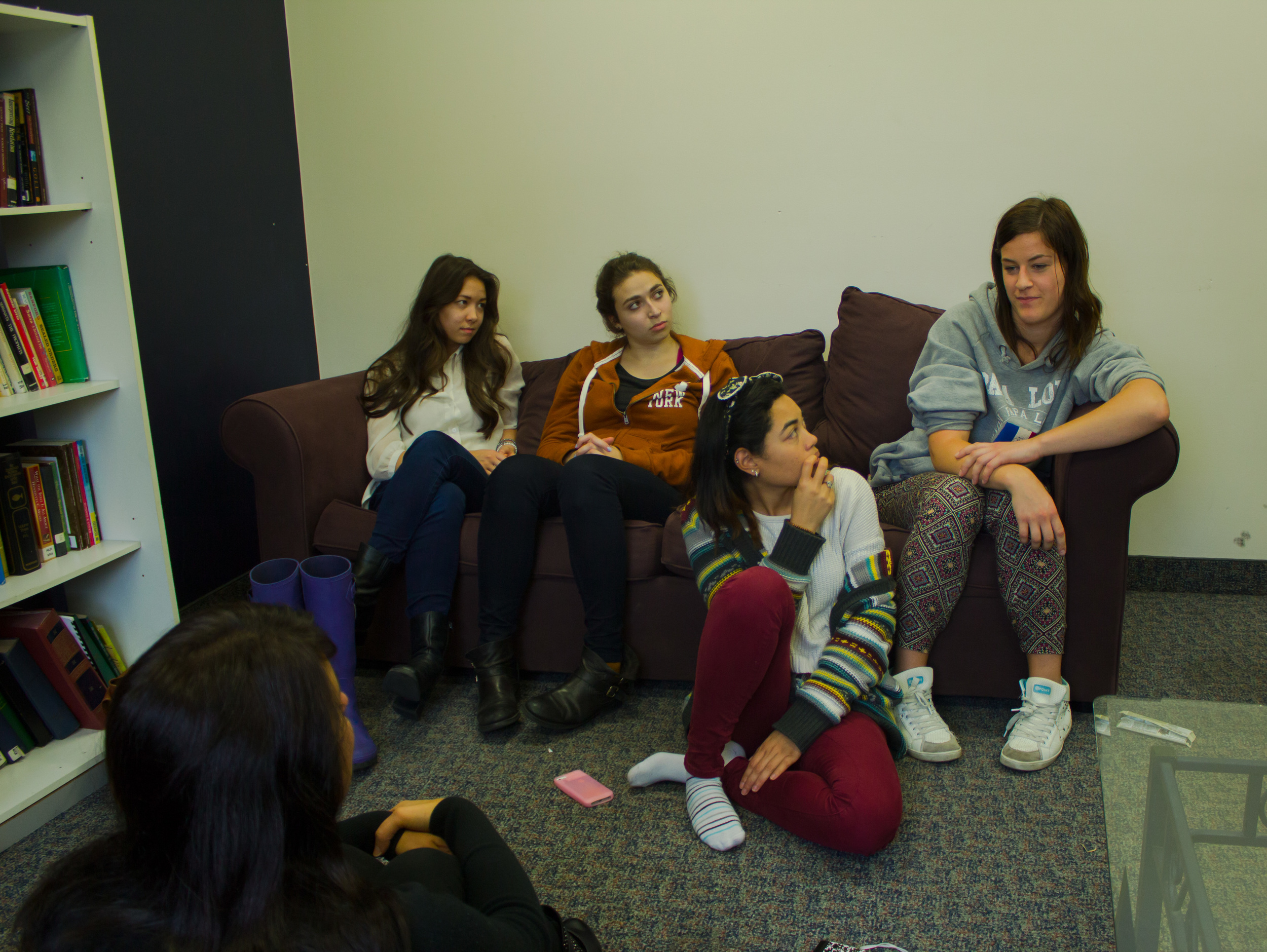 The lounges are comfortable spaces where students can socialize, spend time with God, or have that all-important Skype home. One of the lounges is designated a creative space, with easels, some art supplies, and room to get  messy,innovate, and have fun.