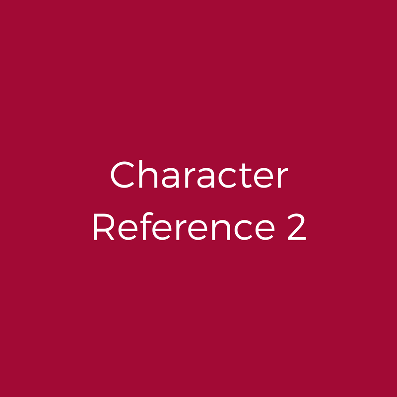 Character Reference 2