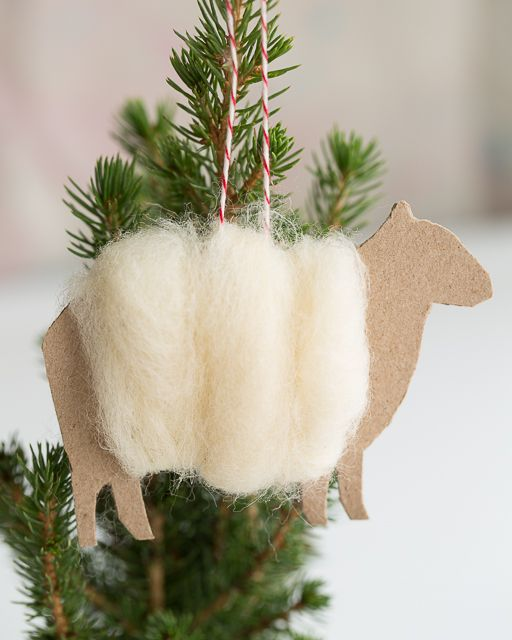 crédit photo:     http://www.sweetpaulmag.com/crafts/fluffy-wool-sheep-ornament