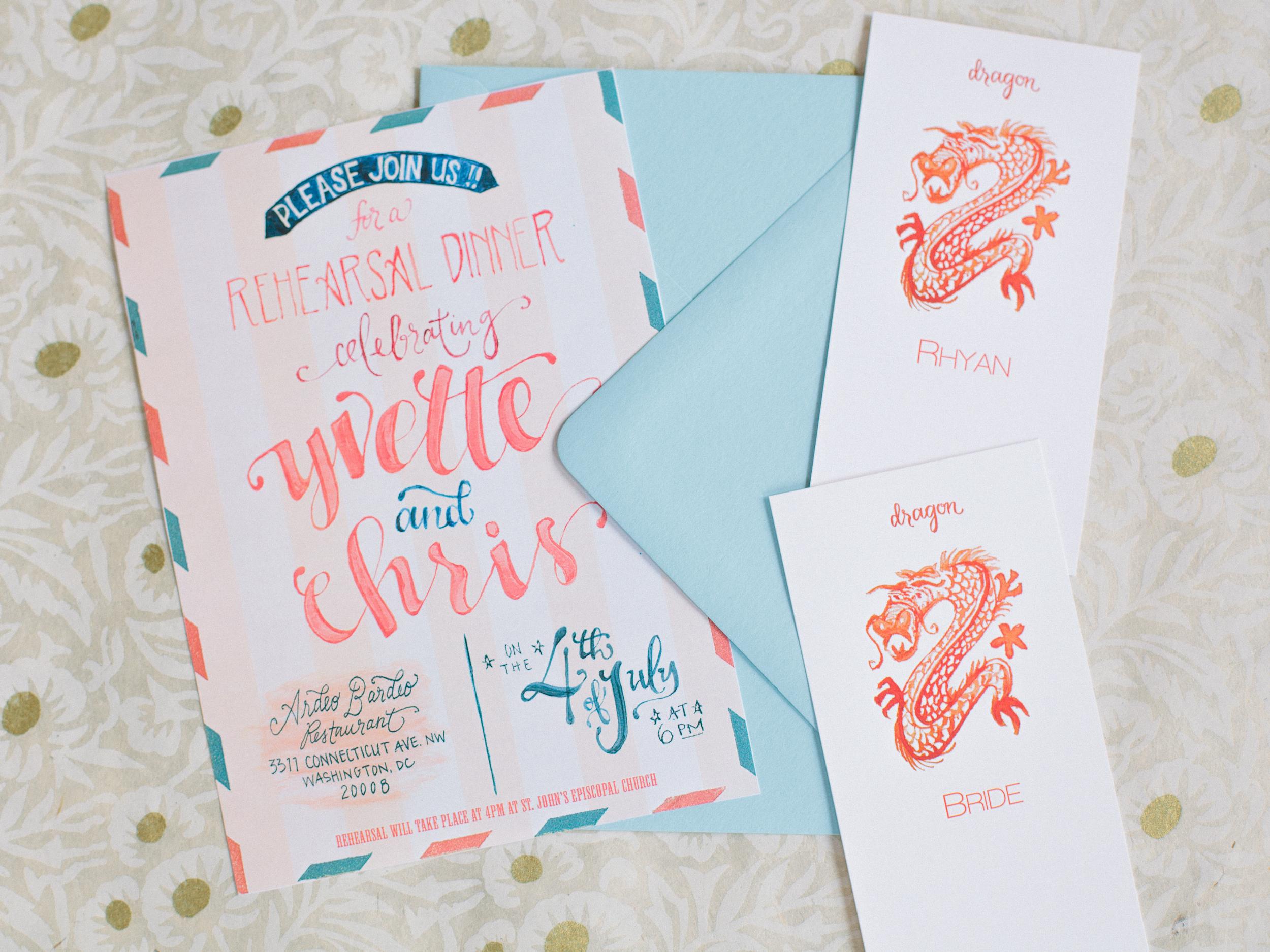 Dinner Invitation & Placecards