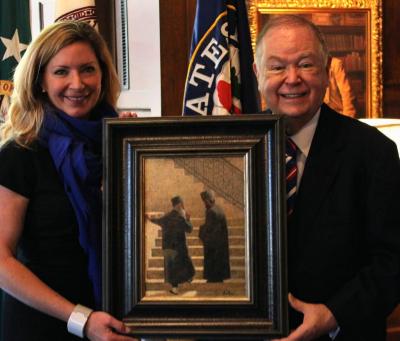 President David L. Boren and Nicole Poole