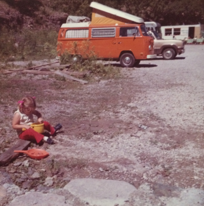 Panning for gold while Dad painted; Mogollon, NM.