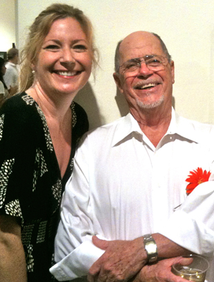 Dad and me, gallery opening, 2010