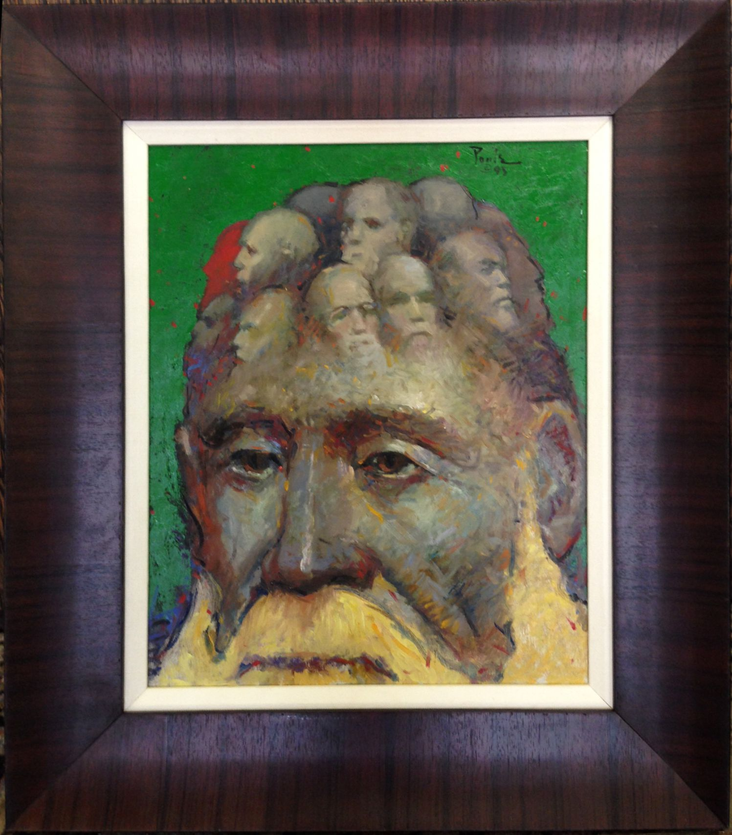 """First Immigrant/Mind of Man,"" by O. Gail Poole Oil on paper Dimensions: 23 x 17.5 Gift of Roy Oliver, 2014"