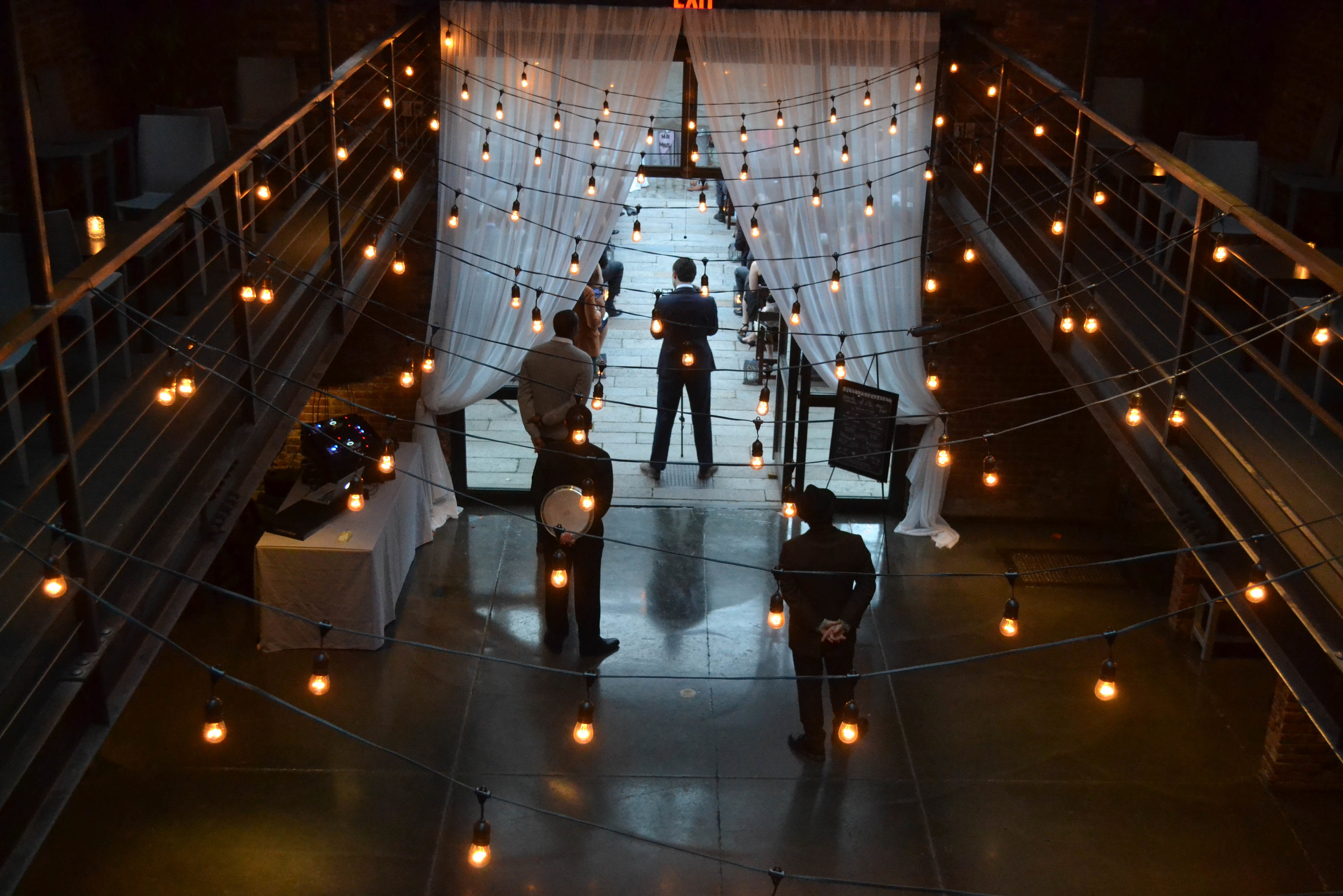Foundry LIC wedding, lights