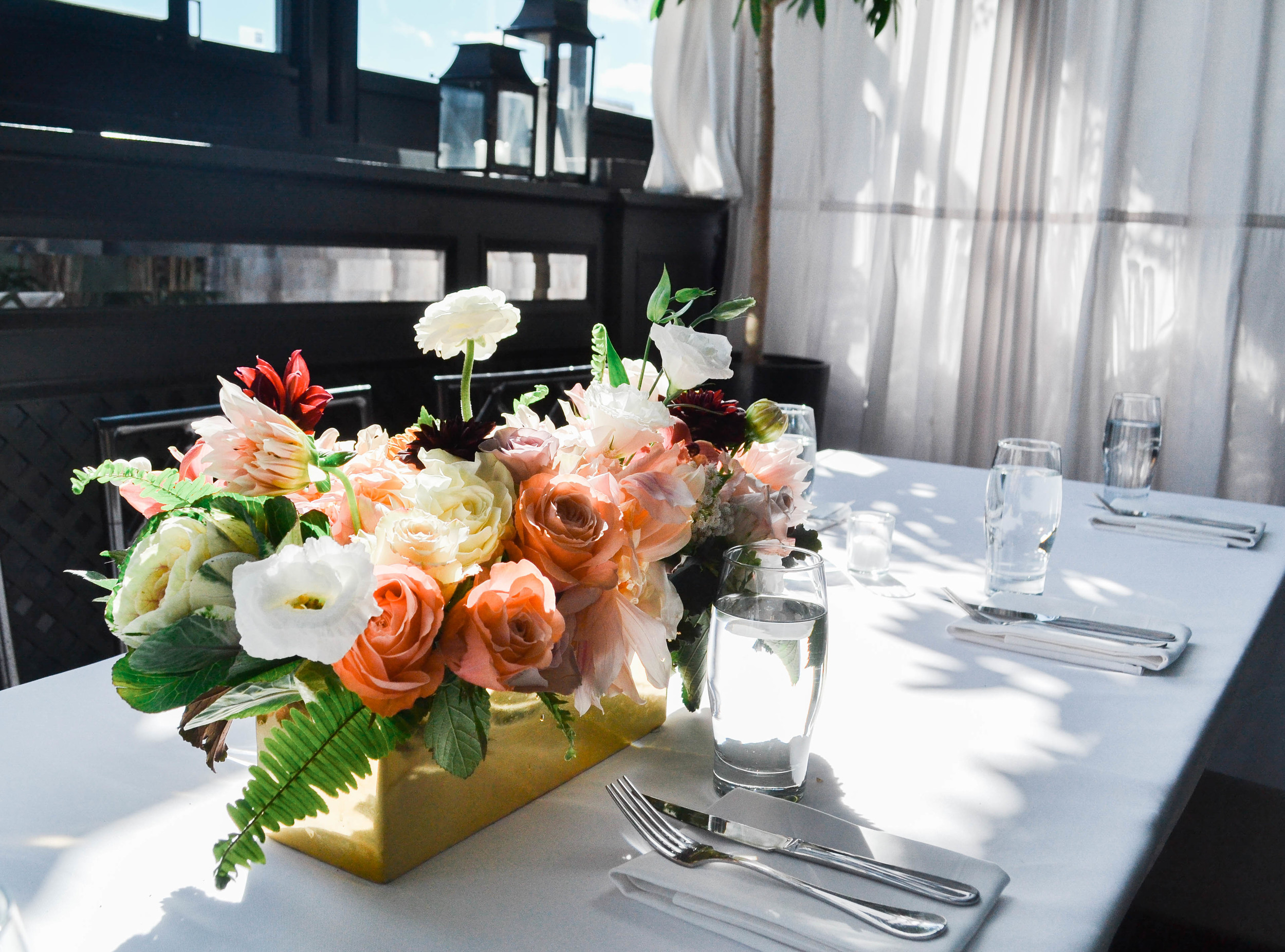 Gramercy Park Hotel Wedding Centerpiece