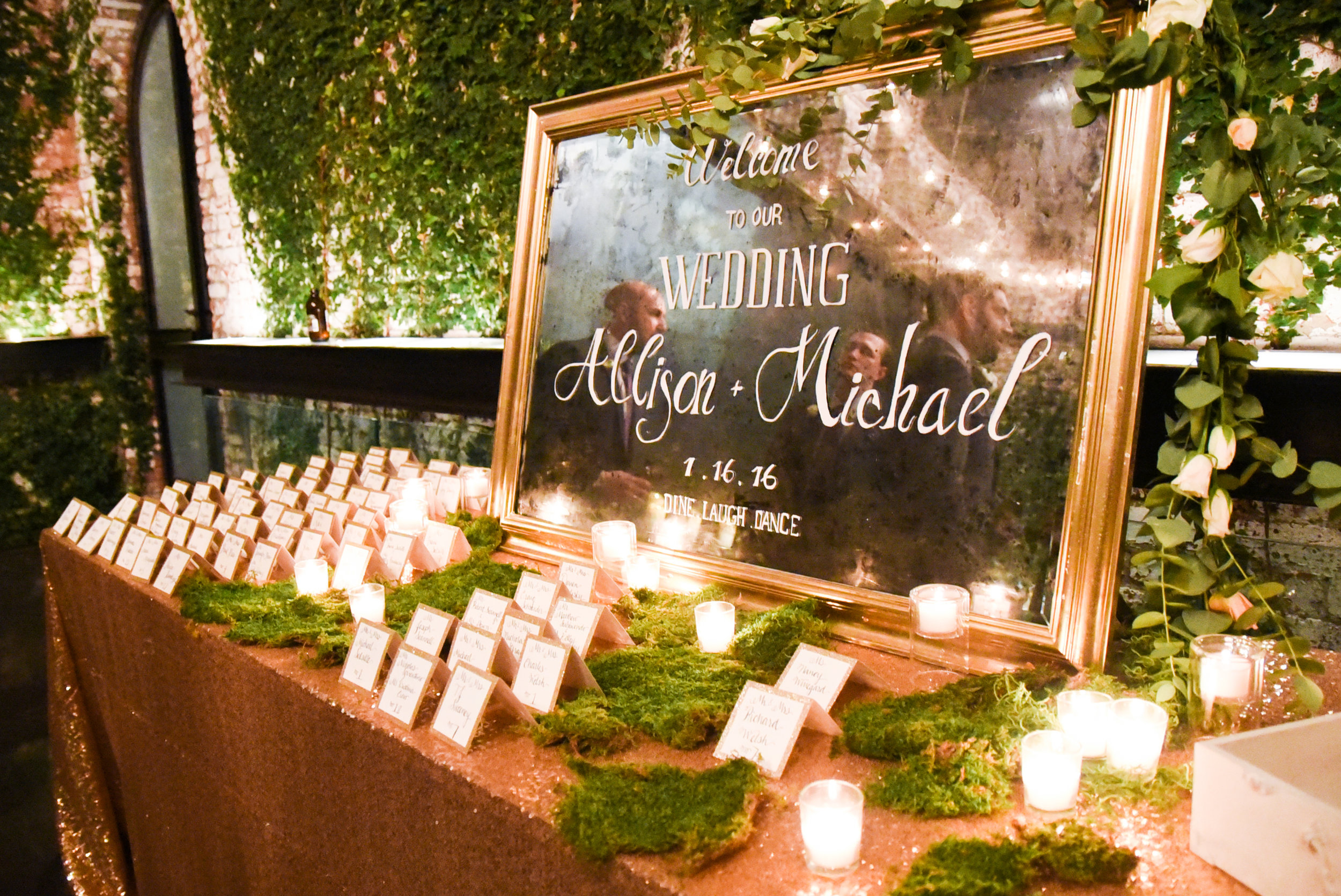The welcome table from a fairy forest