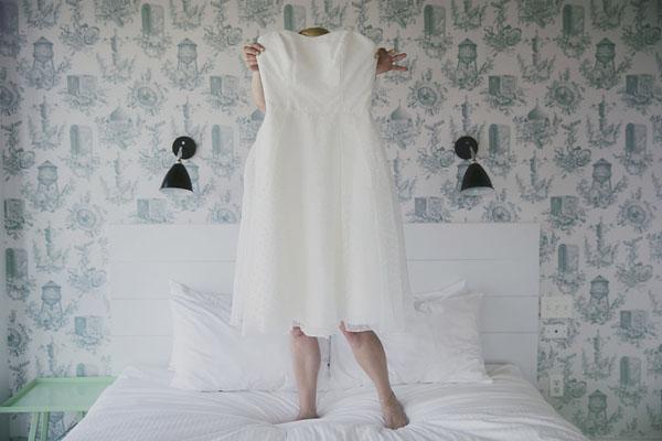 The modern brooklyn bridal gown
