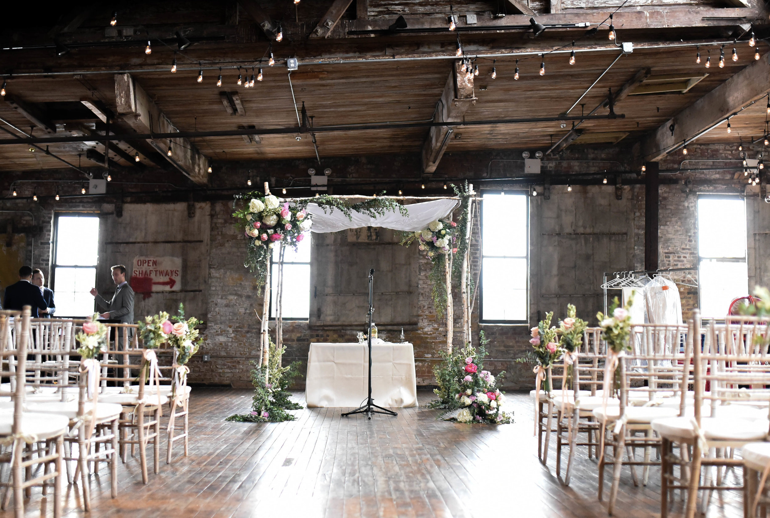 A gorgeous chuppah at the Greenpoint Loft in Brooklyn