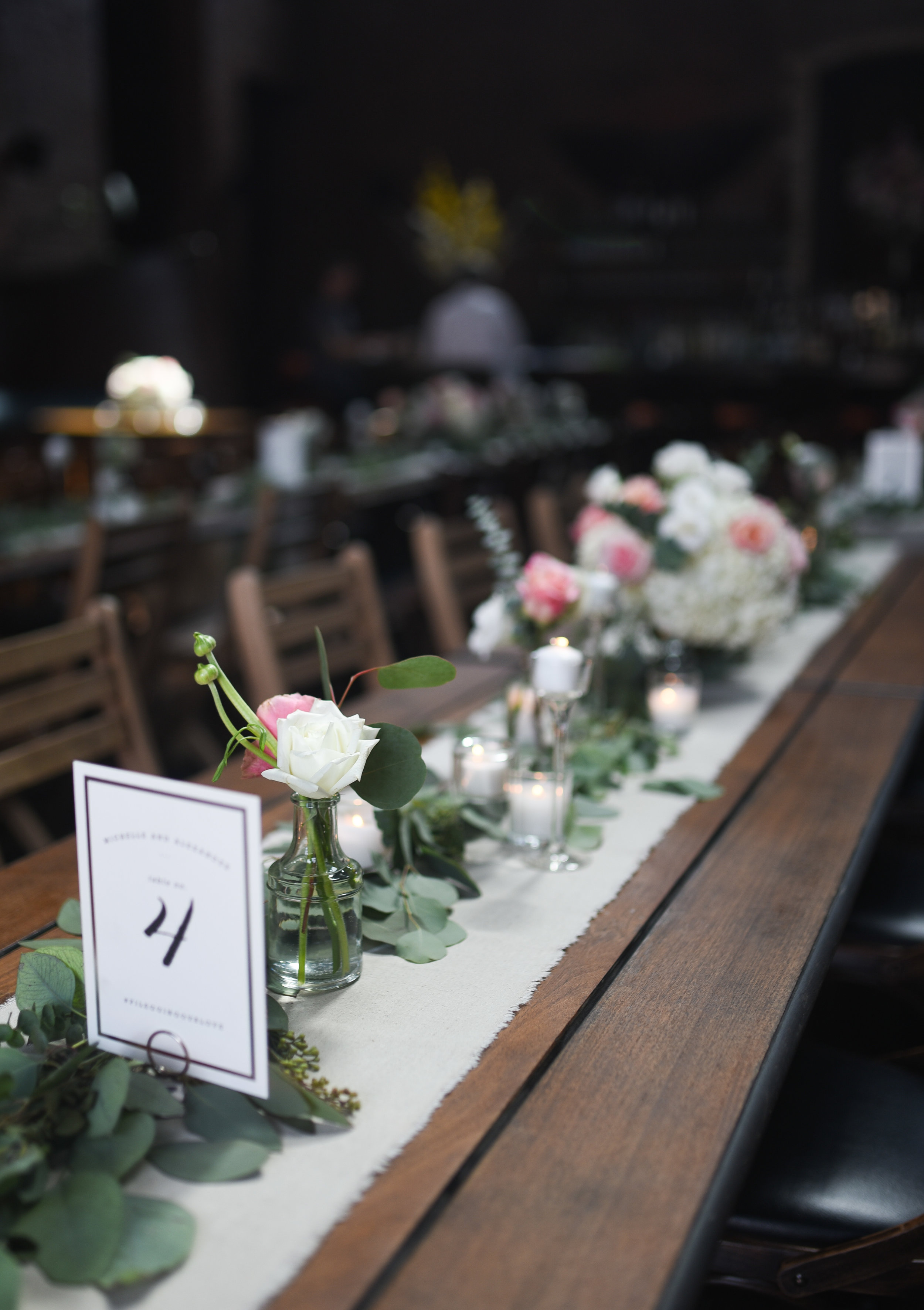 A lovely garland at this Brooklyn Wedding
