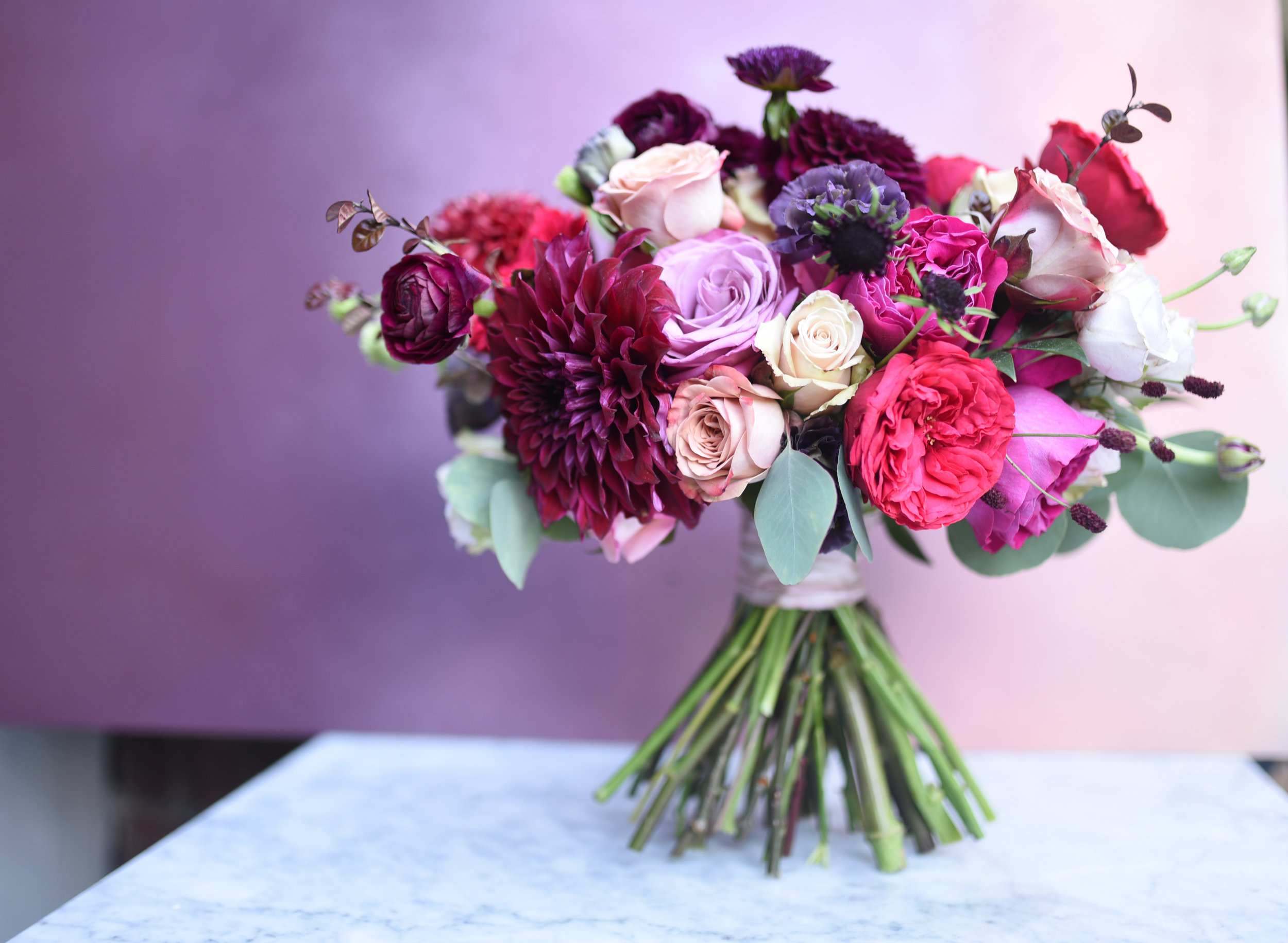 The varied heights allow us to show-off the best flowers in the bunch, especially the dahlias and garden roses