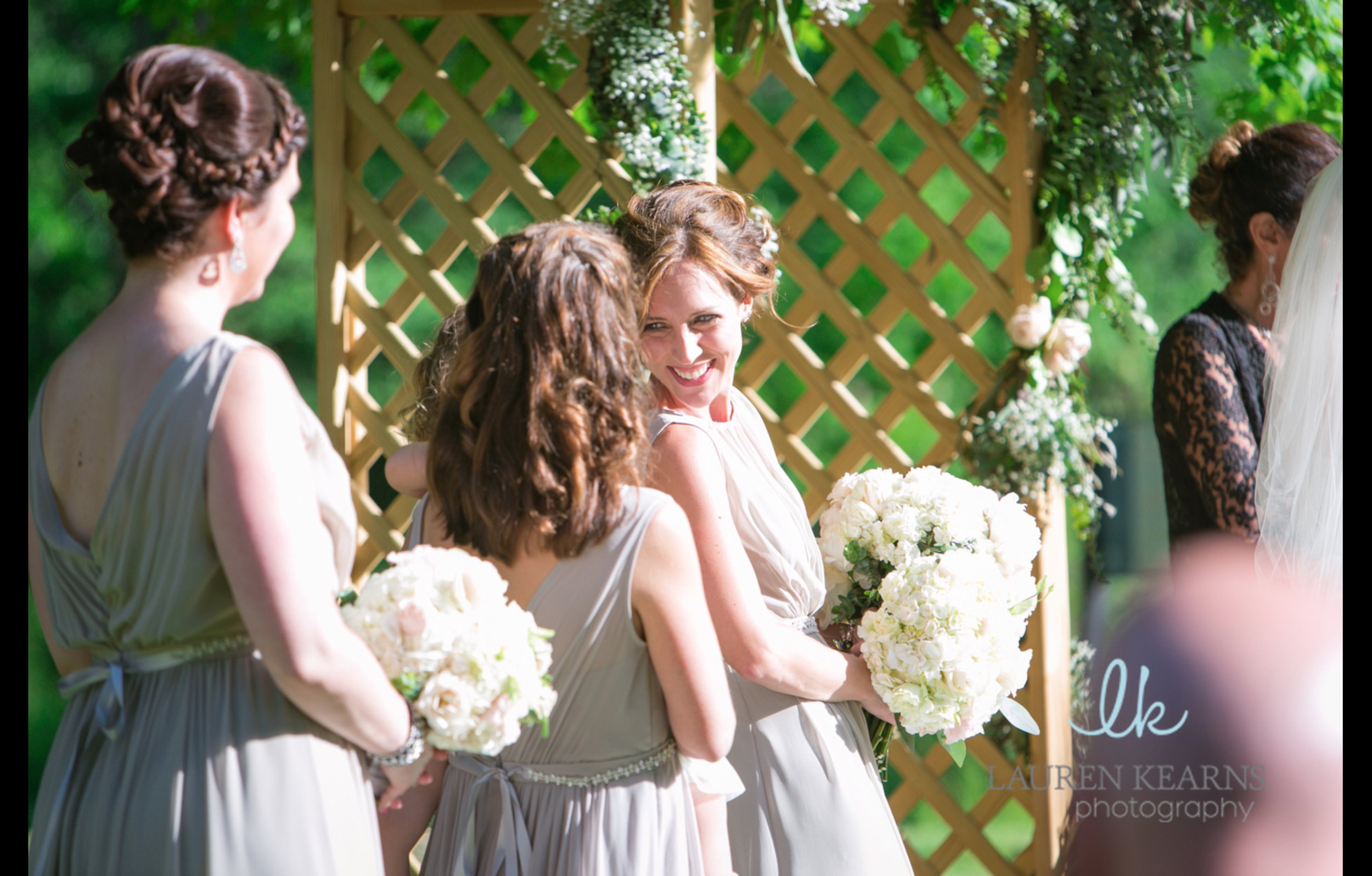 A moment of love between the bride and her maid of honor