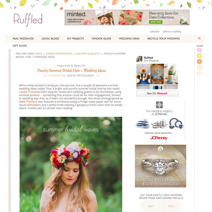 Punchy Summer Bridal Inspiration on Ruffled
