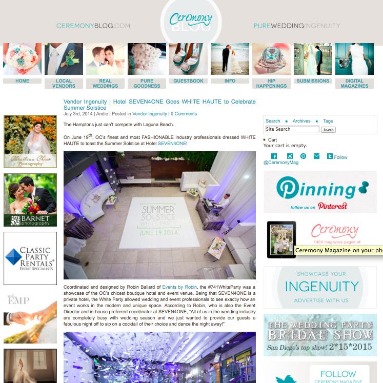 White Haute Party on Ceremony Blog