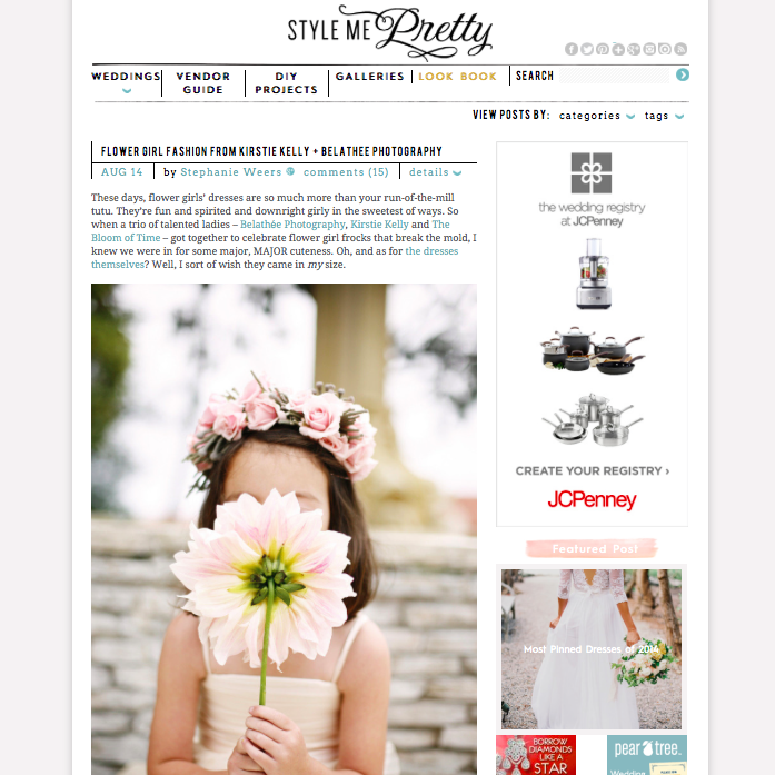 Flower Girl Inspiration on Style Me Pretty