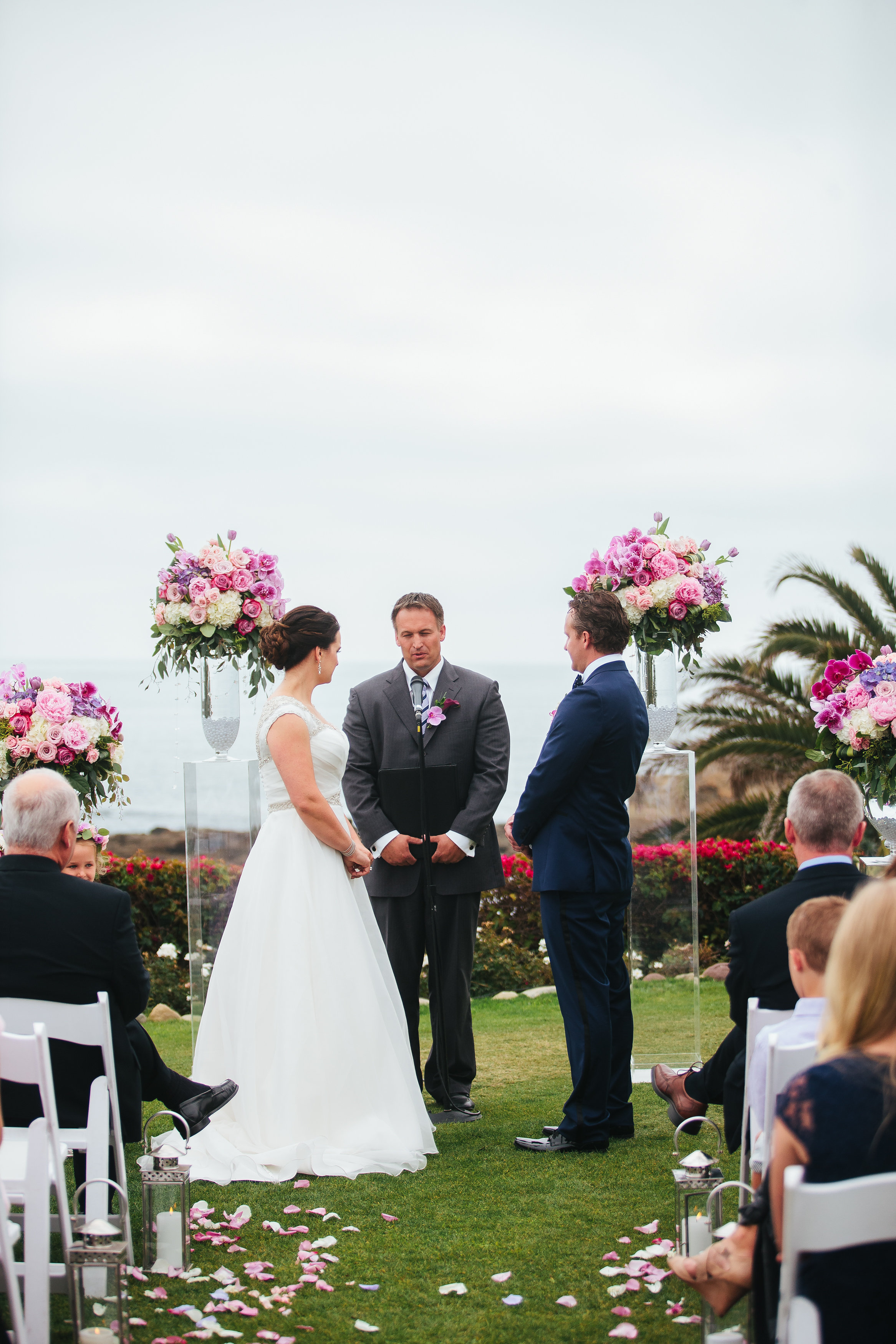 Purple, Pink, and Ivory Wedding at Montage Laguna Beach. Image by Amanda McKinnon.