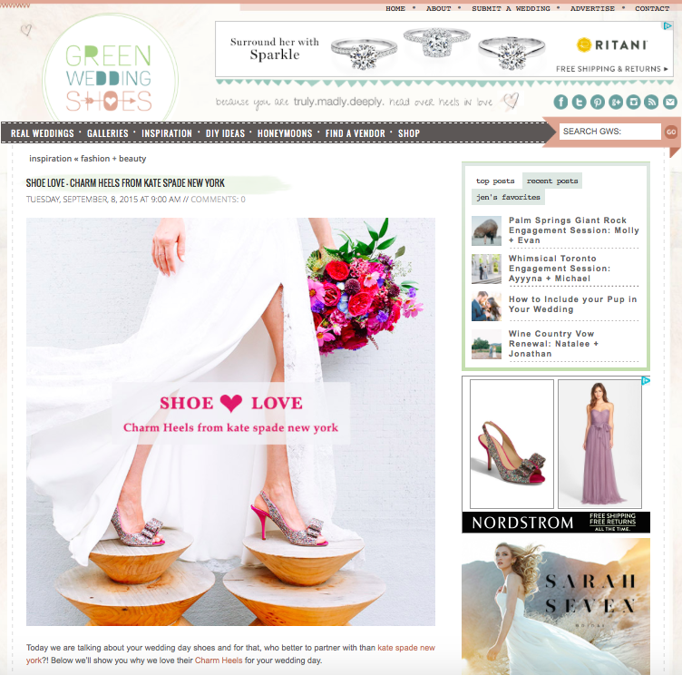 Collab with Green Wedding Shoes: Kate Spade New York