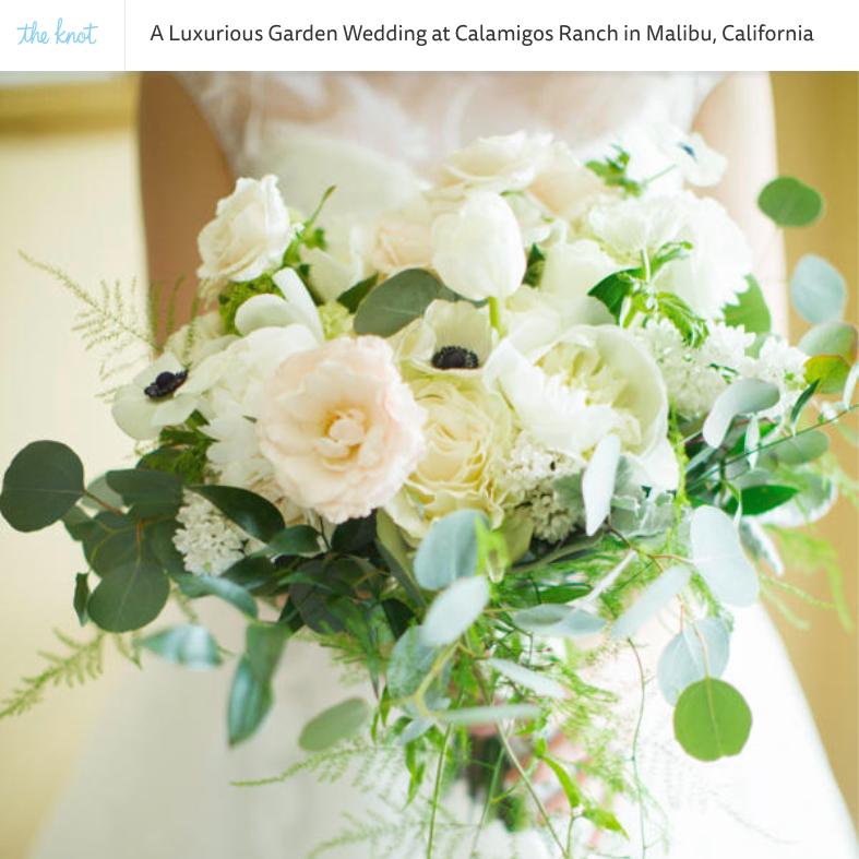 Luxe Garden Wedding at Calamigos Ranch