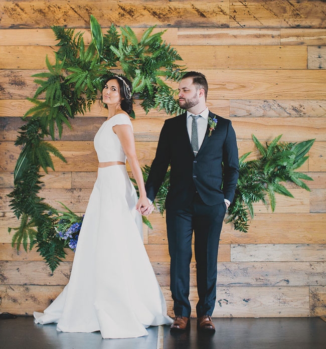 Indigo and Leather Wedding Inspiration - Featured on Green Wedding Shoes