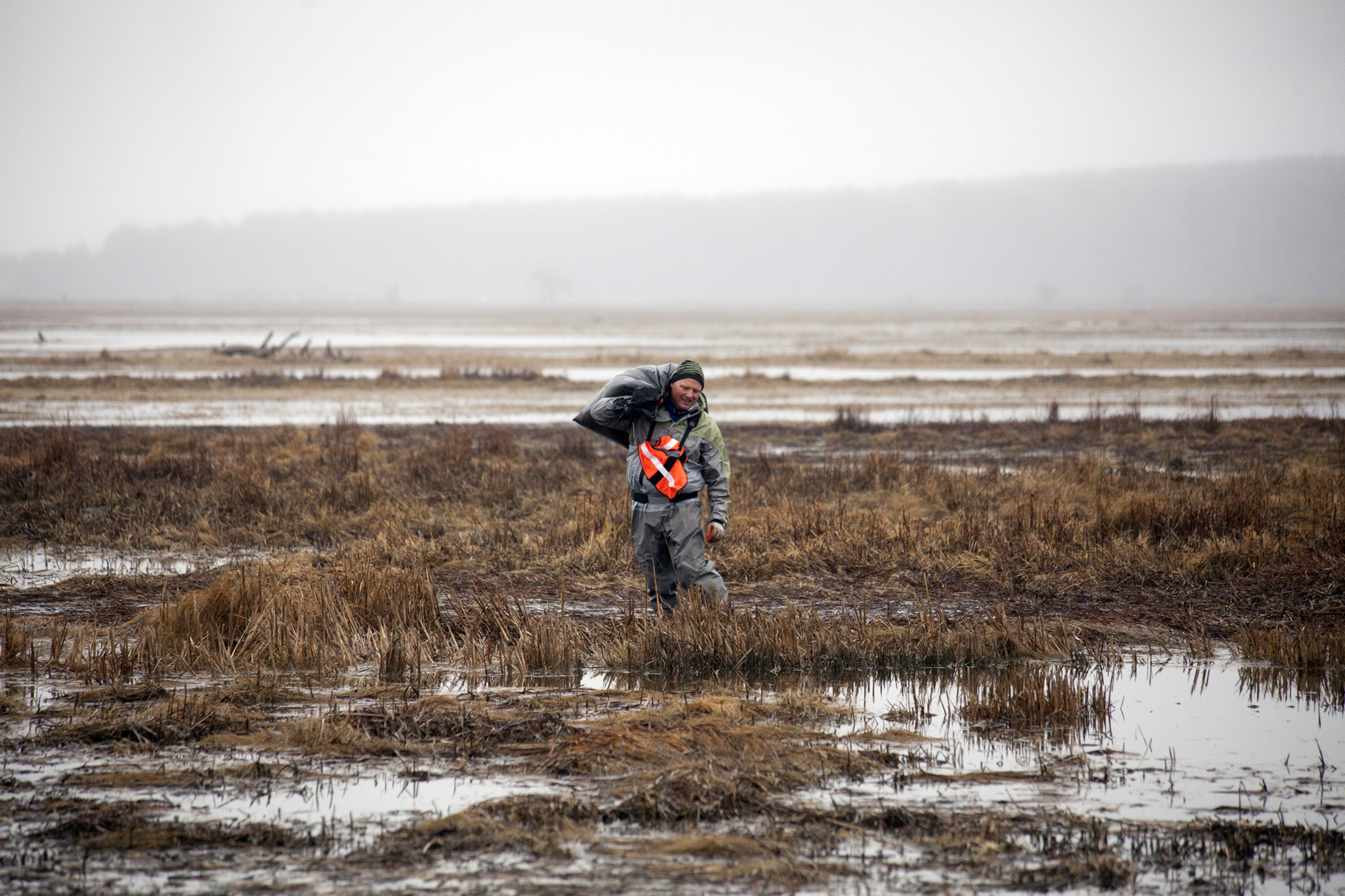 More than 60 volunteers helped cleanup Scarborough Marsh during the annual Earth Day Cleanup in Scarborough, Maine on April 22.