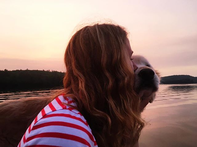 Just a girl and her dog • Hiram, Maine