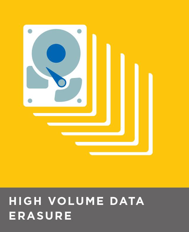 High volume, in-facility data erasure